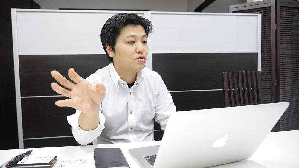 天野社長 インタビューの様子