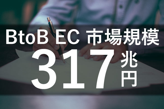 BtoB-EC市場規模|317.2兆円(前年比9.0%増)、EC化率は29.6%(前年比1.3ポイント増)@経済産業省
